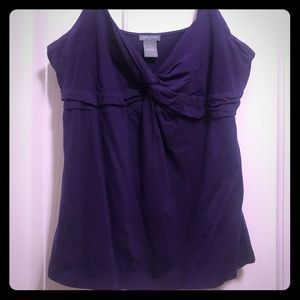 Ann Taylor spaghetti strap top purple